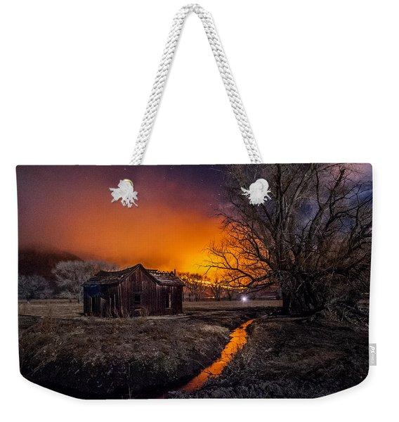 Round Fire Weekender Tote Bag