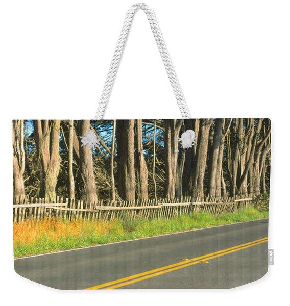Route 1, Mendocino, California Weekender Tote Bag