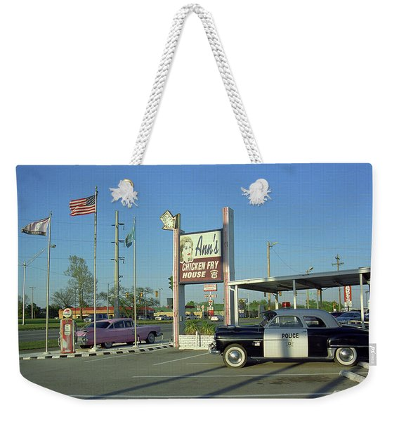 Route 66 - Anns Chicken Fry House Weekender Tote Bag