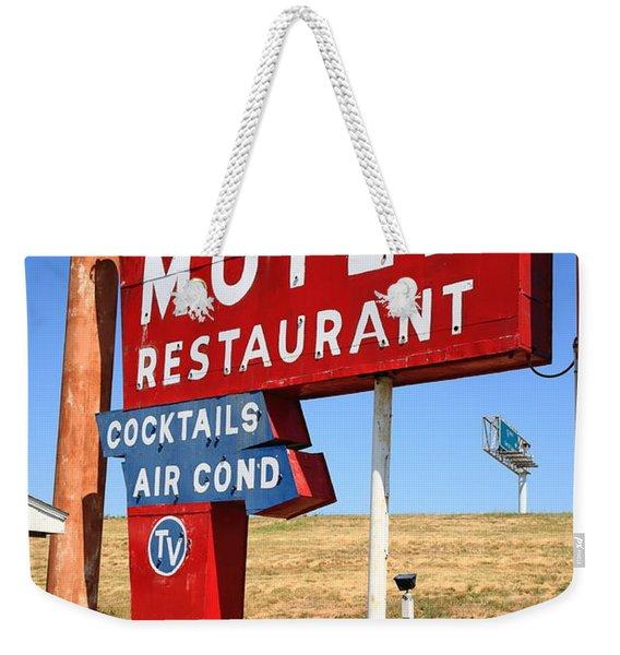 Route 66 - Art's Motel Weekender Tote Bag