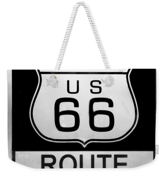 Route 66 End Weekender Tote Bag