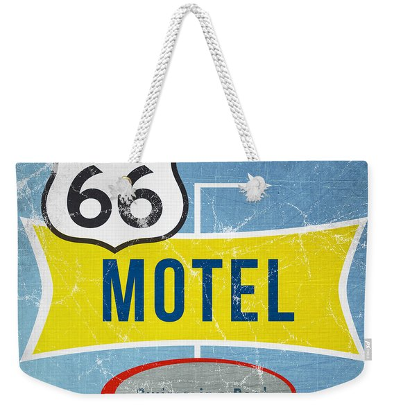 Route 66 Motel Weekender Tote Bag