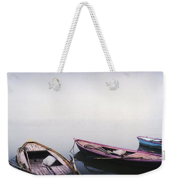 Row Boats In A River, Ganges River Weekender Tote Bag