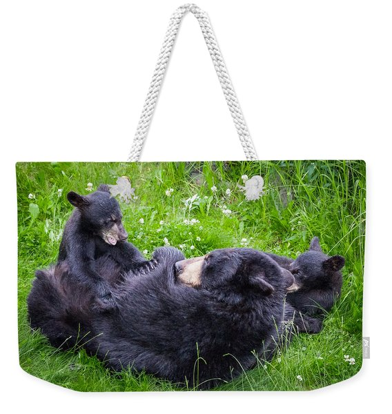 Weekender Tote Bag featuring the photograph Rowr Mama Rowr by Tim Newton