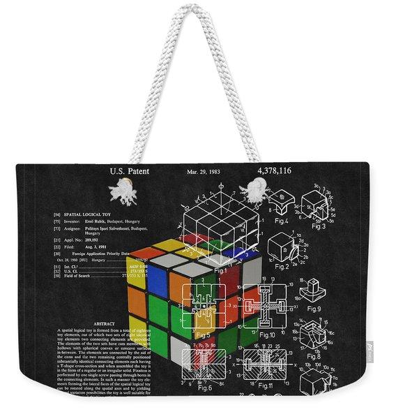 Rubik's Cube Patent 3 Weekender Tote Bag