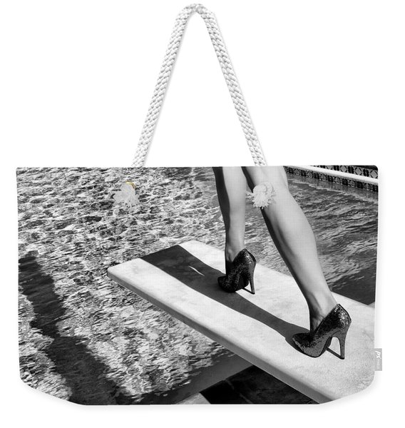 Ruby Heels Bw Palm Springs Weekender Tote Bag