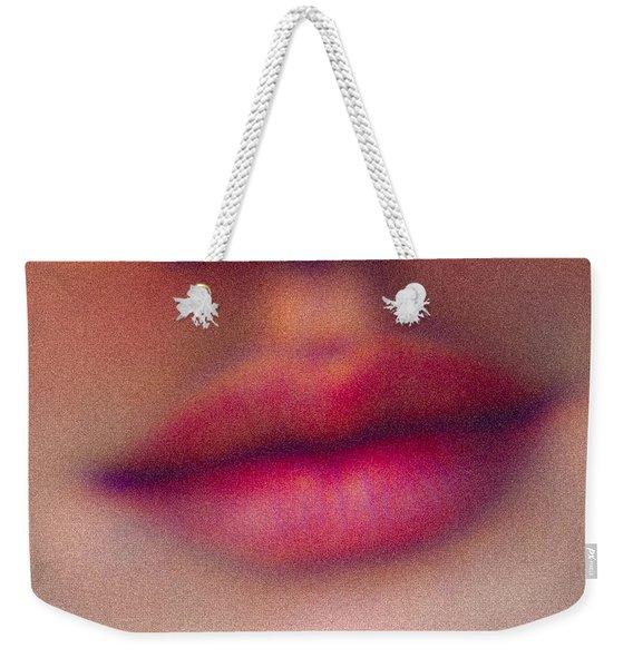 Ruby Red Lips Weekender Tote Bag