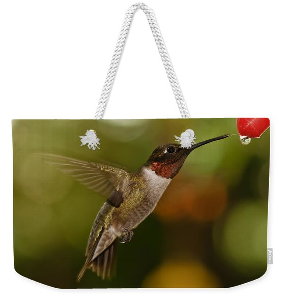 Ruby-throat Hummingbird Weekender Tote Bag