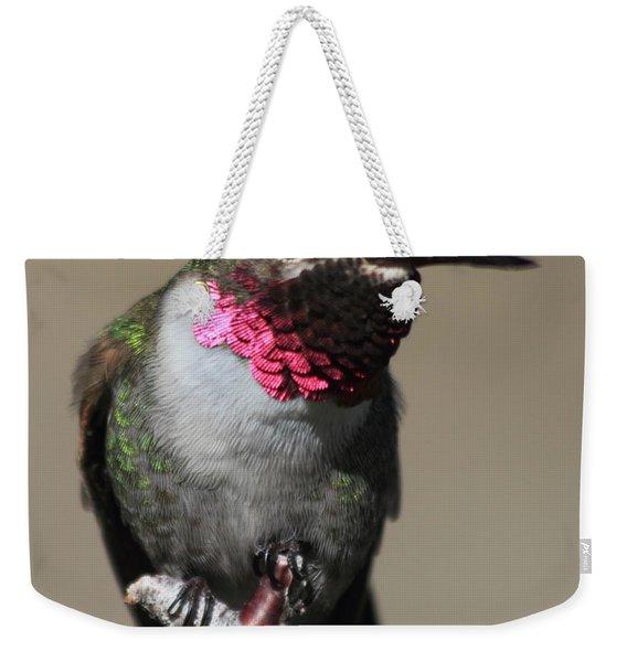 Ruby-throated Hummer Weekender Tote Bag