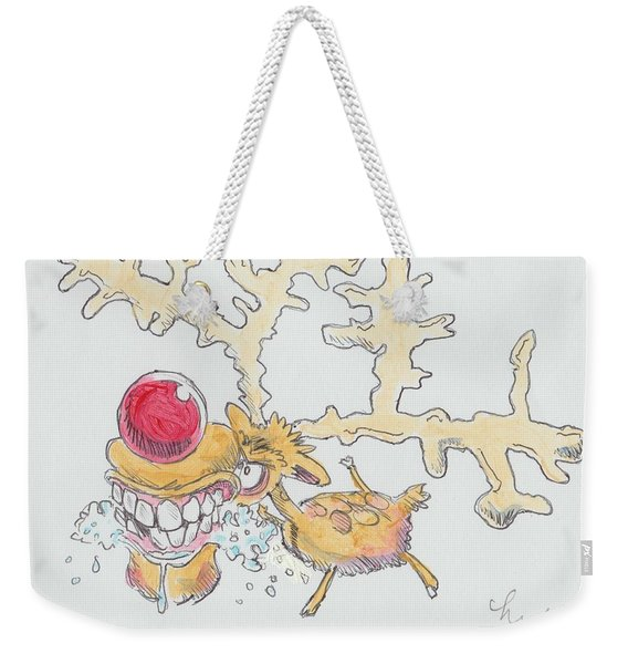 Rudolph The Reindeer Cartoon Weekender Tote Bag