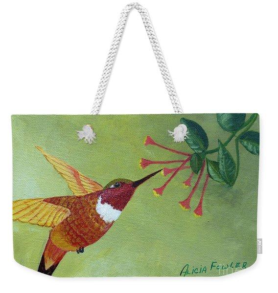 Rufous Hummingbird Weekender Tote Bag
