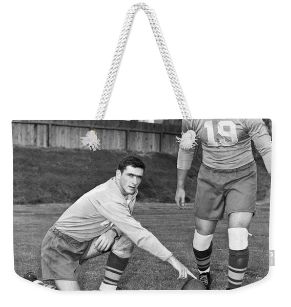 Rugby Penalty Kick Weekender Tote Bag