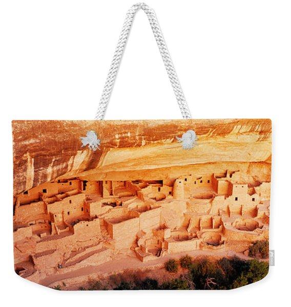 Ruins, Cliff Palace, Mesa Verde Weekender Tote Bag