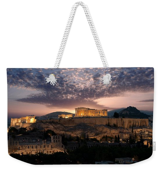 Ruins Of A Temple, Athens, Attica Weekender Tote Bag