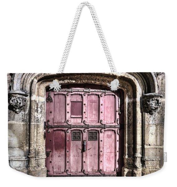 Ruins With Red Door Weekender Tote Bag