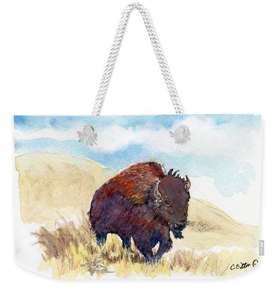 Running Buffalo Weekender Tote Bag