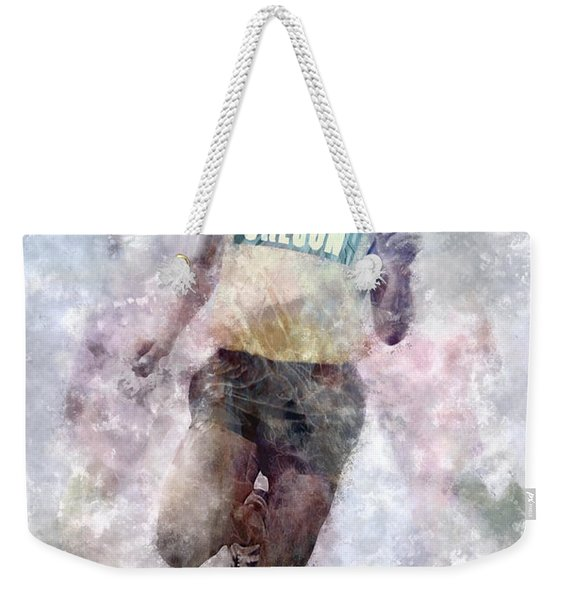 Running Legend Steve Prefontaine Weekender Tote Bag