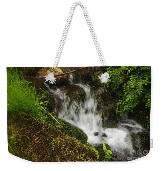 Rushing Mountain Stream And Moss Weekender Tote Bag