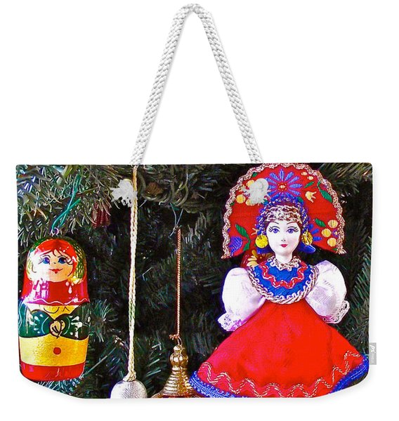 Russian Christmas Tree Decoration In Fredrick Meijer Gardens And Sculpture Park In Grand Rapids-mi Weekender Tote Bag