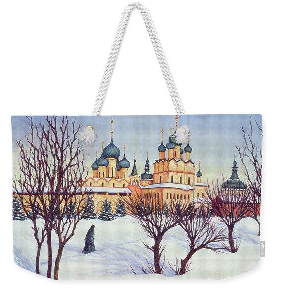 Russian Winter Weekender Tote Bag