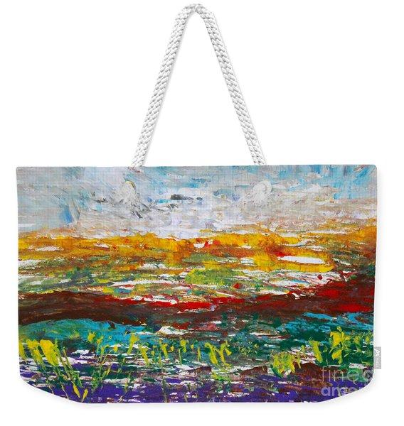 Rustic Landscape Abstract Weekender Tote Bag