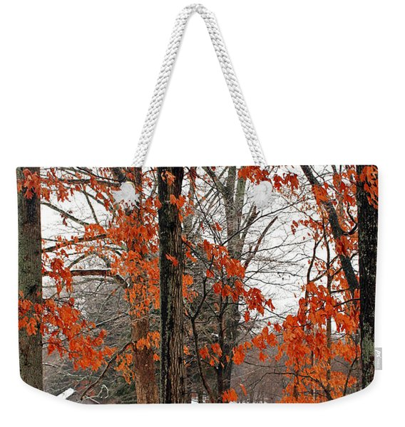 Rustic Winter Weekender Tote Bag