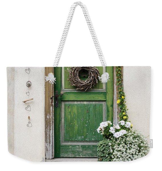Rustic Wooden Village Door - Austria Weekender Tote Bag