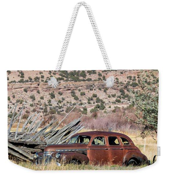 Rusty Chevrolet Special Deluxe In Manila Utah Weekender Tote Bag