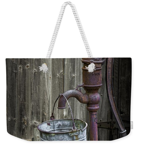 Rusty Hand Water Pump Weekender Tote Bag