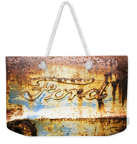 Rusty Old Ford Closeup Weekender Tote Bag