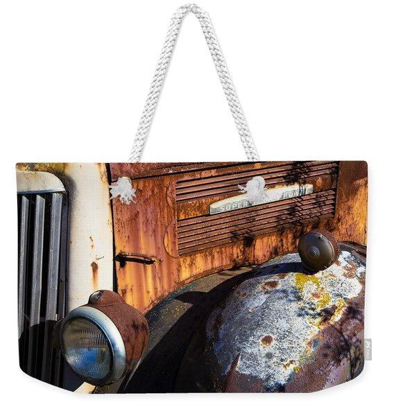Rusty Truck Detail Weekender Tote Bag