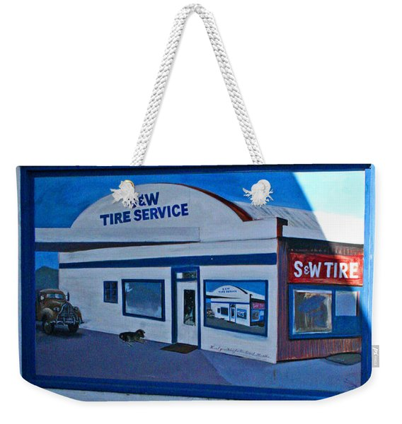 S And W Tire Service Mural Weekender Tote Bag
