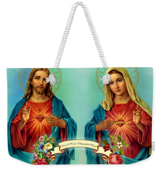 Sacred Heart Immaculate Heart  Weekender Tote Bag