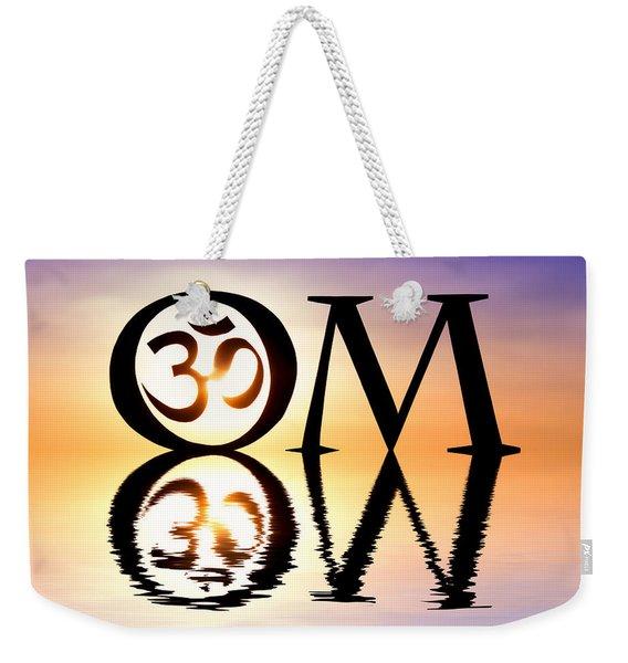 Sacred Om Weekender Tote Bag