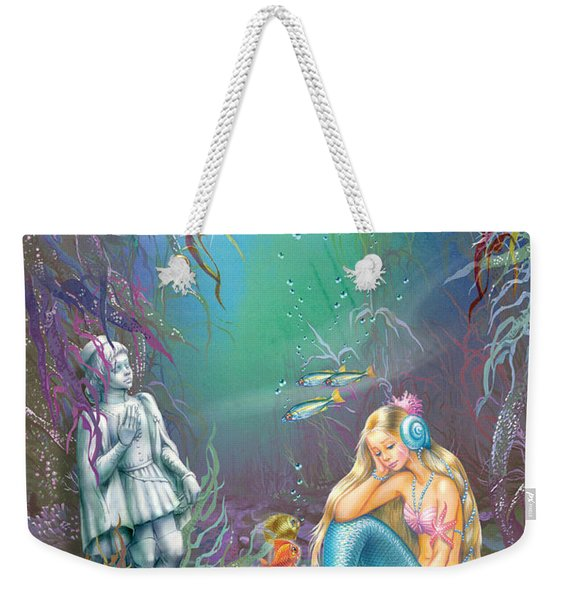 Sad Little Mermaid Weekender Tote Bag