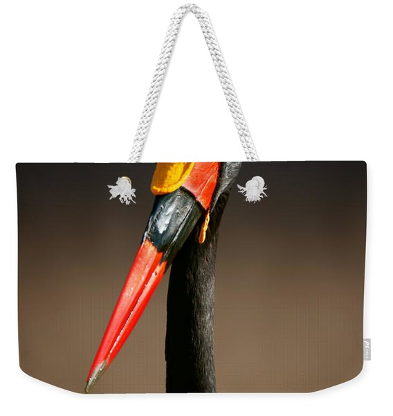 Saddle-billed Stork Portrait Weekender Tote Bag