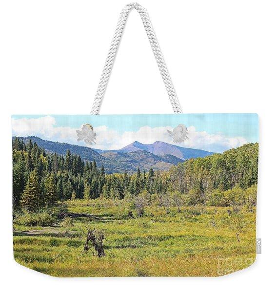 Saddle Mountain Weekender Tote Bag
