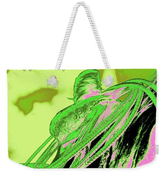 Saddle Electric Pink Weekender Tote Bag