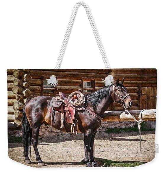 Saddled And Waiting Weekender Tote Bag