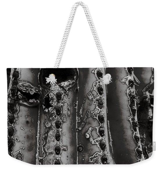 Saguaro Cactus Black And White 1 Weekender Tote Bag