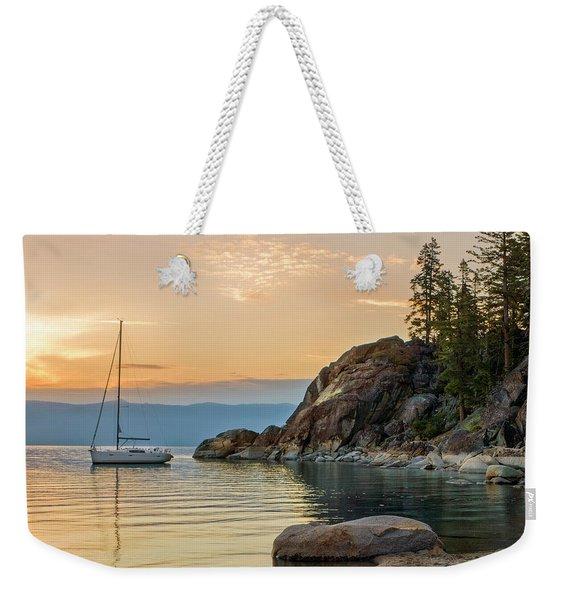 Sail Boat Over The Lake Tahoe Weekender Tote Bag