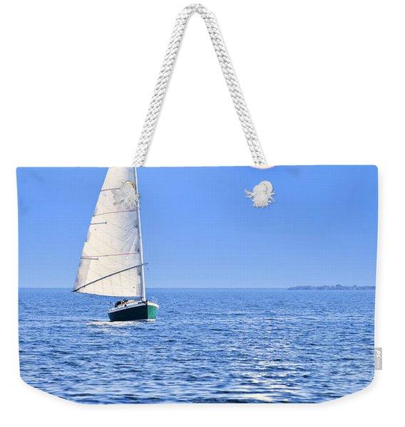 Sailboat At Full Moon Weekender Tote Bag