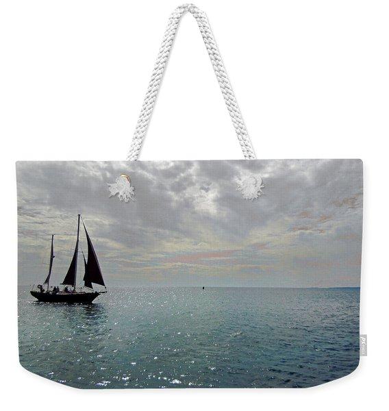 Sailboat At Sea  Weekender Tote Bag