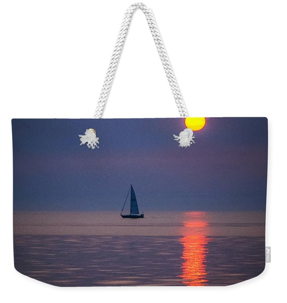 Sailboat At Sunrise Weekender Tote Bag