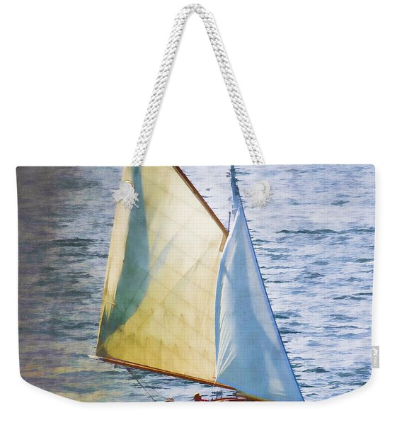 Sailboat Off Marthas Vineyard Massachusetts Weekender Tote Bag