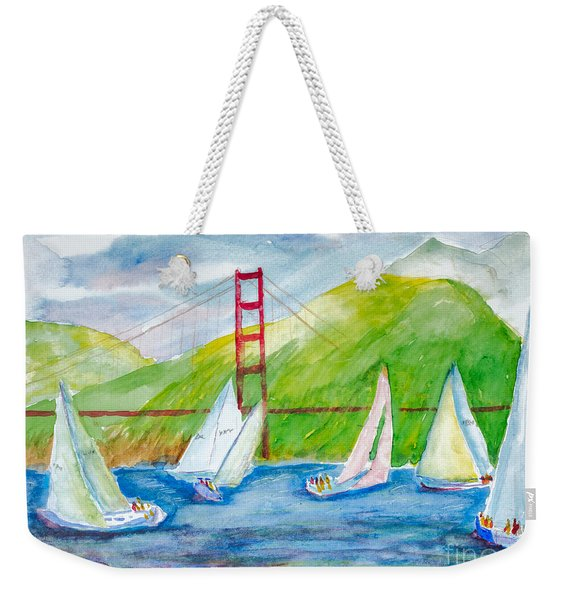 Sailboat Race At The Golden Gate Weekender Tote Bag