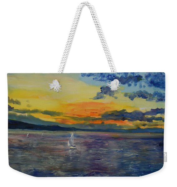 Sailboats Near Stockholm Weekender Tote Bag