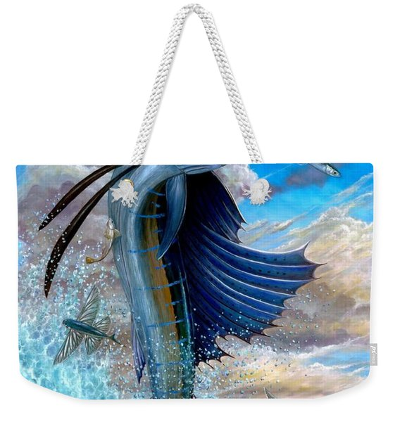 Sailfish And Flying Fish Weekender Tote Bag