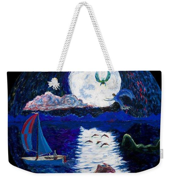 Sailing In The Moonlight Weekender Tote Bag