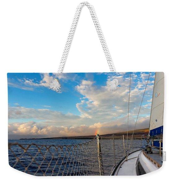 Sailing Lahaina Bay Weekender Tote Bag